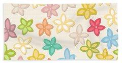 Indian Summer Flowers Bath Towel