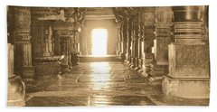 Hand Towel featuring the photograph Indian Temple by Mini Arora