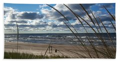 Indiana Dunes' Lake Michigan Hand Towel by Pamela Clements