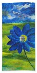 Indigo Blue - Sunflower Hand Towel