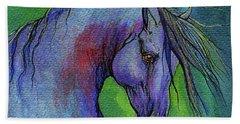 Indigo Horse Hand Towel