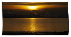 Industrial Sunset Hand Towel