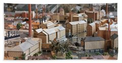 Industrial Town Miniature Model Hand Towel