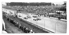 Indy 500 Auto Race Hand Towel