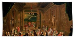 Initiation Ceremony In A Viennese Masonic Lodge During The Reign Of Joseph II, With Mozart Seated Bath Towel