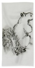 Ink Squirrel Bath Towel