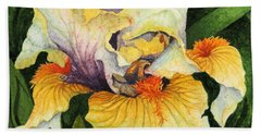 Bath Towel featuring the painting Inner Beauty by Barbara Jewell