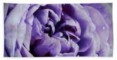 Lavender Motive Bath Towel by Jean OKeeffe Macro Abundance Art