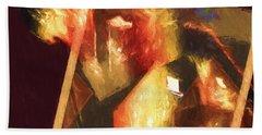 Inner Turmoil Digital Oil Painting Hand Towel