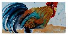 Innocent Rooster Bath Towel by Beverley Harper Tinsley