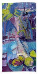 Inside And Outside Abstract Expressionism Bath Towel