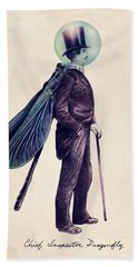 Inspector Dragonfly Bath Towel