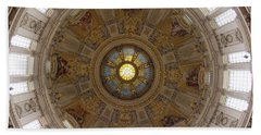 Interior Of Dome Of Berlin Cathedral Bath Towel