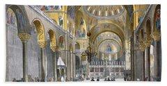 Interior Of San Marco Basilica, Looking Bath Towel