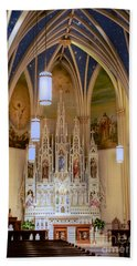 Interior Of St. Mary's Church Bath Towel by Mark Dodd