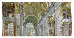 Interior Of St Peters In Rome Bath Towel