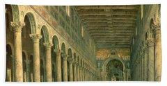 Interior Of The Church Of San Paolo Fuori Le Mura Bath Towel