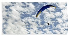 Into The Blue Yonder Hand Towel by AJ  Schibig