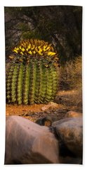 Bath Towel featuring the photograph Into The Prickly Barrel by Mark Myhaver