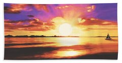 Into The Sunset Bath Towel