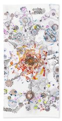 Intracellular Diversion Bath Towel by Regina Valluzzi