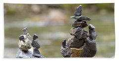 Inuksuk Bath Towel by Sharon Talson
