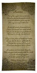 Invictus By William Ernest Henley Bath Towel