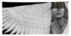 Inward Flight Bath Towel by Pat Erickson