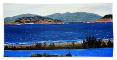 Hand Towel featuring the painting Iona Formerly Rams Islands by Barbara Griffin
