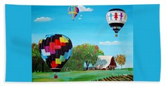 Iowa Balloons Hand Towel by Phyllis Kaltenbach