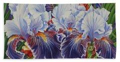 Iris Blooms Bath Towel