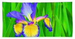Iris Blossom Bath Towel