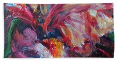 Iris - Bold Impressionist Painting Bath Towel by Quin Sweetman