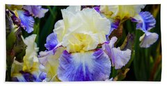 Bath Towel featuring the photograph Iris In Blue And Yellow by Patricia Babbitt