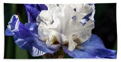 Hand Towel featuring the photograph Stairway To Heaven Iris by Roselynne Broussard