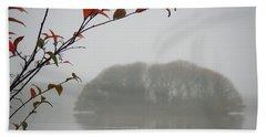 Irish Crannog In The Mist Hand Towel