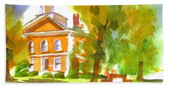 Iron County Courthouse In Watercolor Hand Towel