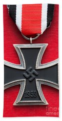 Iron Cross Medal Hand Towel by Lee Avison