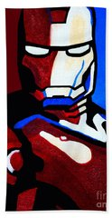 Iron Man 2 Bath Towel by Barbara McMahon