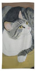 Bath Towel featuring the painting Is Dinner Ready by Norm Starks