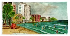 Isla Verde Beach San Juan Puerto Rico Hand Towel