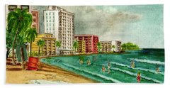 Isla Verde Beach San Juan Puerto Rico Hand Towel by Frank Hunter