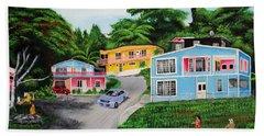 Island Hillside Living Hand Towel by Luis F Rodriguez