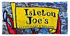 Isleton  Joe's Logo Bath Towel