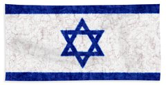 Israel Star Of David Flag Batik Bath Towel
