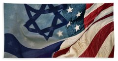 Israeli American Flags Bath Towel
