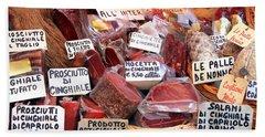 Italian Cured Meats Bath Towel