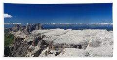 Italian Dolomites - Sella Group Bath Towel by Antonio Scarpi