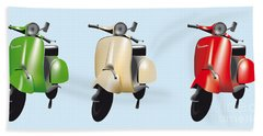 Italian Flag Vespa Bath Towel