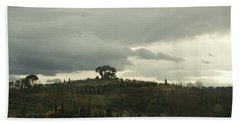 Hand Towel featuring the photograph Italian Hillside by Robin Maria Pedrero